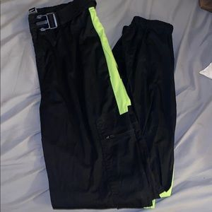 Neon Greene Stripe Cargo Pants